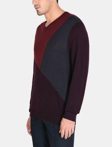 ARMANI EXCHANGE COLORBLOCK MERINO V-NECK SWEATER Pullover Man d