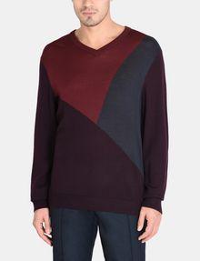 ARMANI EXCHANGE COLORBLOCK MERINO V-NECK SWEATER Pullover Man f