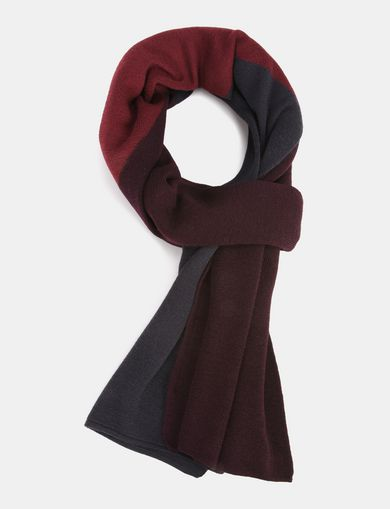 WOOL COLORBLOCK SCARF