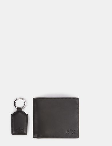 DEBOSSED WALLET AND KEYCHAIN GIFT SET