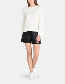 ARMANI EXCHANGE TEXTURED BELL-SLEEVE MOHAIR SWEATER Pullover Woman a