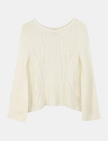 ARMANI EXCHANGE TEXTURED BELL-SLEEVE MOHAIR SWEATER Pullover Woman b