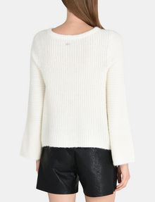 ARMANI EXCHANGE TEXTURED BELL-SLEEVE MOHAIR SWEATER Pullover Woman r