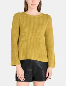ARMANI EXCHANGE TEXTURED BELL-SLEEVE MOHAIR SWEATER Pullover Woman f