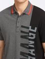 ARMANI EXCHANGE VERTICAL PIECED LOGO POLO SHORT SLEEVES POLO Man e