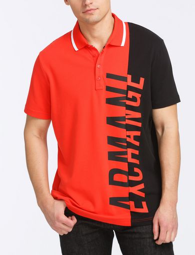 VERTICAL PIECED LOGO POLO