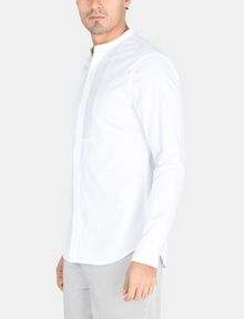 ARMANI EXCHANGE SLIM-FIT SATIN PLACKET SHORT-SLEEVE SHIRT Long sleeve shirt Man d