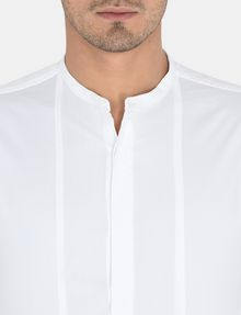 ARMANI EXCHANGE SLIM-FIT SATIN PLACKET SHORT-SLEEVE SHIRT Long sleeve shirt Man e