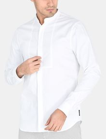ARMANI EXCHANGE SLIM-FIT SATIN PLACKET SHORT-SLEEVE SHIRT Long sleeve shirt Man f