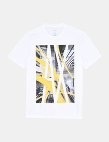 ARMANI EXCHANGE AX SKYSCRAPERS T-SHIRT Logo T-shirt Man b