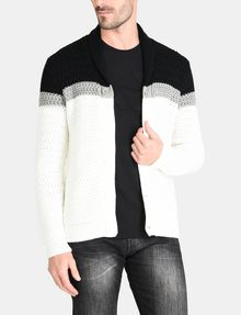 ARMANI EXCHANGE COLORBLOCK SHAWL COLLAR CARDIGAN Layering Man f