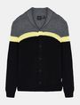 ARMANI EXCHANGE COLORBLOCK SHAWL COLLAR CARDIGAN Layering Man b