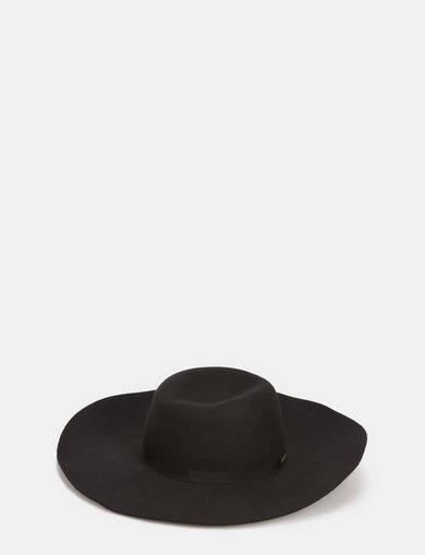 FLOPPY WOOL GROSGRAIN HAT