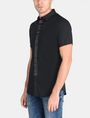 ARMANI EXCHANGE SLIM-FIT SATIN PLACKET SHORT-SLEEVE SHIRT Short sleeve shirt Man d