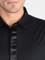 ARMANI EXCHANGE SLIM-FIT SATIN PLACKET SHORT-SLEEVE SHIRT Short sleeve shirt Man e
