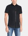 ARMANI EXCHANGE SLIM-FIT SATIN PLACKET SHORT-SLEEVE SHIRT Short sleeve shirt Man f