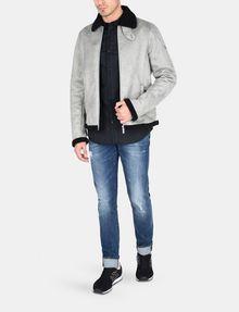 ARMANI EXCHANGE SLIM-FIT GROSGRAIN PLACKET SHIRT Long sleeve shirt Man a