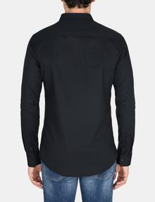 ARMANI EXCHANGE SLIM-FIT GROSGRAIN PLACKET SHIRT Long sleeve shirt Man r