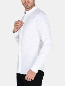 ARMANI EXCHANGE SLIM-FIT GROSGRAIN PLACKET SHIRT Long sleeve shirt Man d