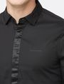 ARMANI EXCHANGE SLIM-FIT SATIN PLACKET SHIRT Long sleeve shirt Man e