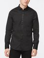 ARMANI EXCHANGE SLIM-FIT SATIN PLACKET SHIRT Long sleeve shirt Man f
