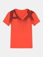 ARMANI EXCHANGE MATRIX LOGO V-NECK Logo T-shirt Man b