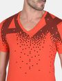 ARMANI EXCHANGE MATRIX LOGO V-NECK Logo T-shirt Man e