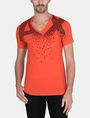 ARMANI EXCHANGE MATRIX LOGO V-NECK Logo T-shirt Man f