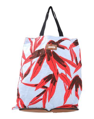 MARNI レディース ハンドバッグ ブラウン 紡績繊維