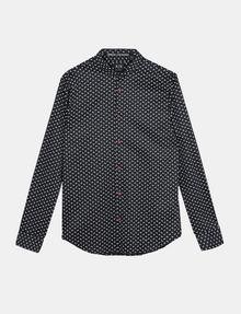 ARMANI EXCHANGE MICRO-PAISLEY PRINT SHIRT Long sleeve shirt Man b