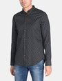 ARMANI EXCHANGE MICRO-PAISLEY PRINT SHIRT Long sleeve shirt Man f