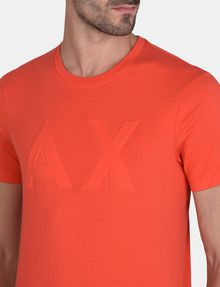 ARMANI EXCHANGE DEBOSSED TONAL LOGO CREW Logo T-shirt Man e
