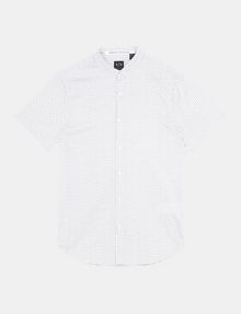 ARMANI EXCHANGE MICRO-GEO PRINT SHIRT Short sleeve shirt Man b