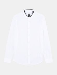ARMANI EXCHANGE TIPPED COLLAR SHIRT Long sleeve shirt Man b