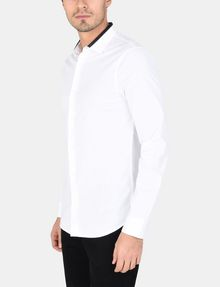 ARMANI EXCHANGE TIPPED COLLAR SHIRT Long sleeve shirt Man d