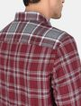ARMANI EXCHANGE PIECED PLAID REGULAR-FIT SHIRT Long sleeve shirt Man e