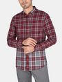ARMANI EXCHANGE PIECED PLAID REGULAR-FIT SHIRT Long sleeve shirt Man f