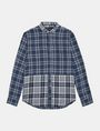 ARMANI EXCHANGE PIECED PLAID REGULAR-FIT SHIRT Long sleeve shirt Man b