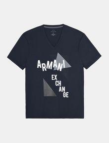 ARMANI EXCHANGE MOD TRIANGLE V-NECK Logo T-shirt Man b