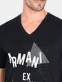 ARMANI EXCHANGE MOD TRIANGLE V-NECK Logo T-shirt Man e