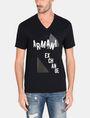 ARMANI EXCHANGE MOD TRIANGLE V-NECK Logo T-shirt Man f
