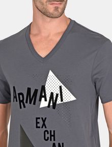 ARMANI EXCHANGE MOD TRIANGLE V-NECK Logo T-shirt Man e