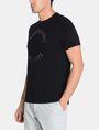 ARMANI EXCHANGE STUDDED CIRCLE CREW Logo T-shirt Man d