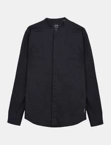 ARMANI EXCHANGE BANDED COLLAR BIB-FRONT SHIRT Long sleeve shirt Man b