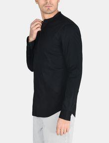 ARMANI EXCHANGE BANDED COLLAR BIB-FRONT SHIRT Long sleeve shirt Man d