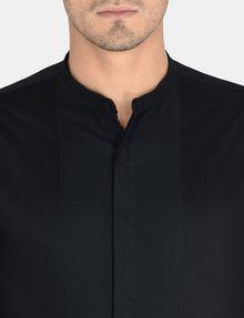 ARMANI EXCHANGE BANDED COLLAR BIB-FRONT SHIRT Long sleeve shirt Man e
