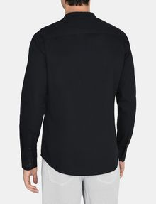 ARMANI EXCHANGE BANDED COLLAR BIB-FRONT SHIRT Long sleeve shirt Man r