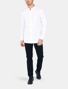 ARMANI EXCHANGE BANDED COLLAR BIB-FRONT SHIRT Long sleeve shirt Man a