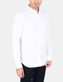 ARMANI EXCHANGE BANDED COLLAR BIB-FRONT SHIRT Long sleeve shirt Man f