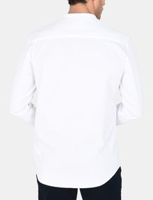 ARMANI EXCHANGE BANDED COLLAR BIB-FRONT SHIRT Long sleeve shirt Man r